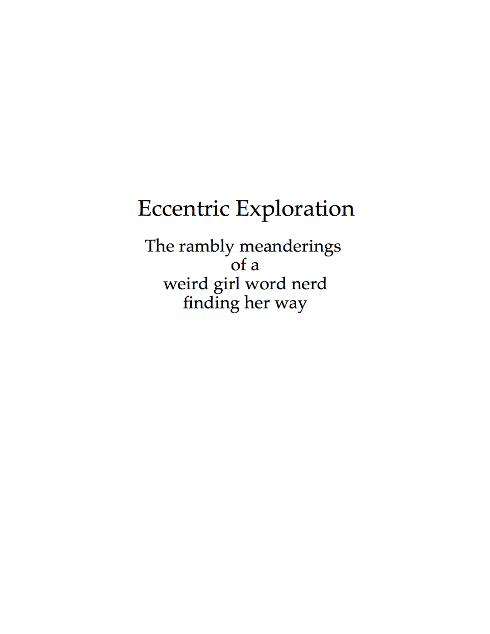 Eccentric Exploration